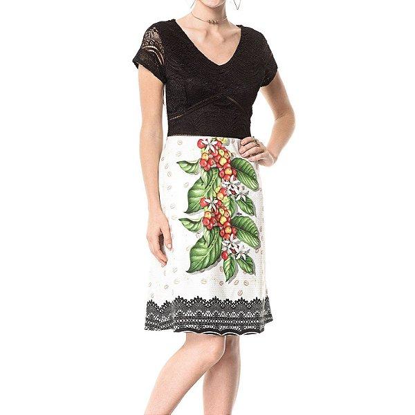 Vestido Midi Flor do Café - Ref.:100839