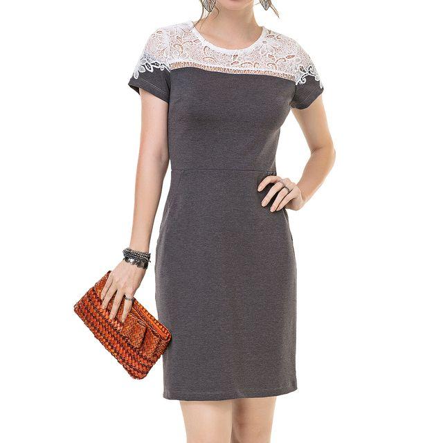 Vestido Secretário Encanto Belo Amour - Ref.: 106710