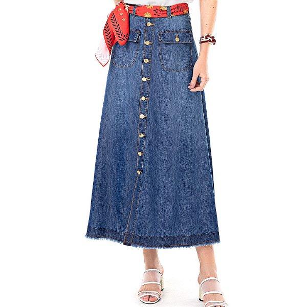 Saia Jeans Maxi Humor - Ref.:091936