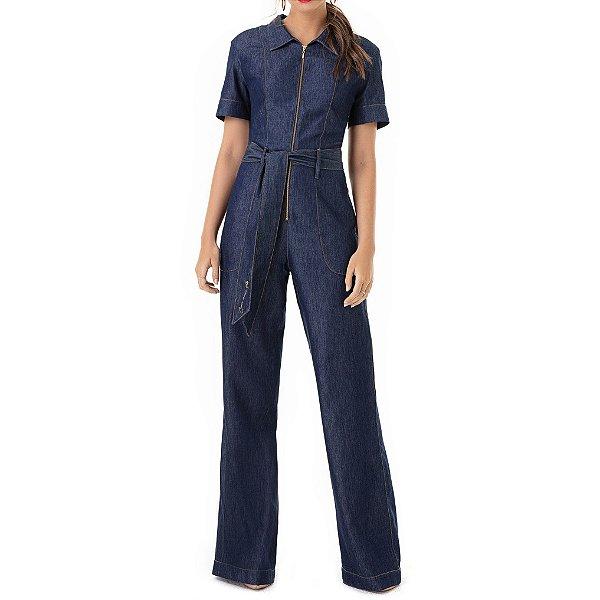 Macacão Jeans Flare Liz - Ref.:136820