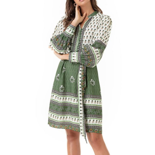 Vestido Curto Estampado Barrado Helena - Ref.:103112