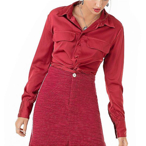 Camisa De Cetim Liz - Ref.:126823