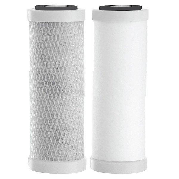 Elementos filtrantes para Purificador de Água AS 4 / Mini Dual / Pentair / Hidro Filtros ( Par )