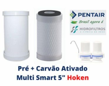 Elementos filtrantes para Purificador de Água Multi Smart Hoken  ( Par )