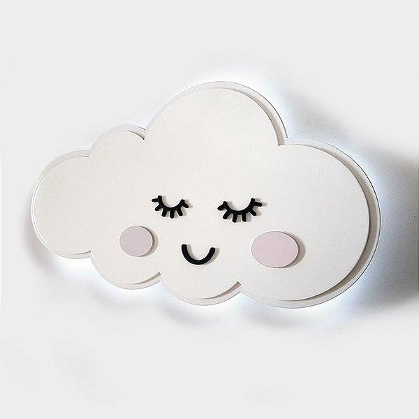 Luminária Nuvem LED com rosto
