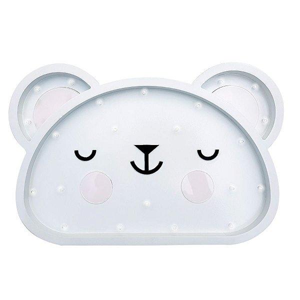Luminoso Urso Polar MDF/Led Frontal para Quarto de Bebê