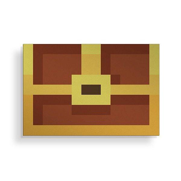 Placa Decorativa Pixel Baú