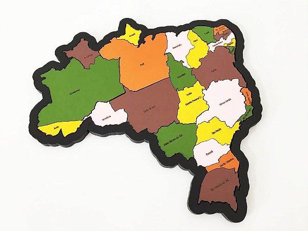 Quebra-cabeça Mapa Do Brasil Brinquedo Pedagógico