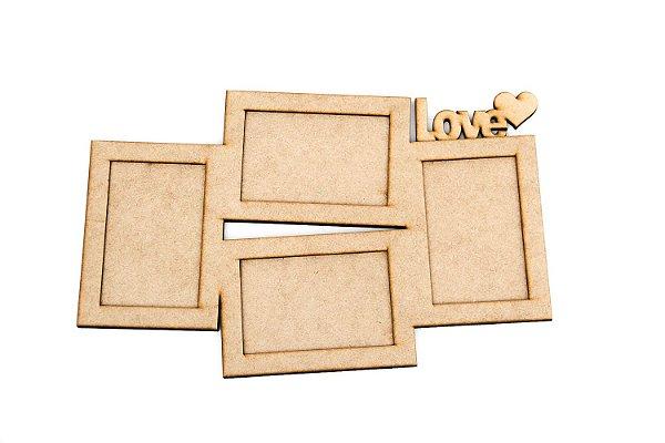 Porta Retratos Love - 4 Fotos