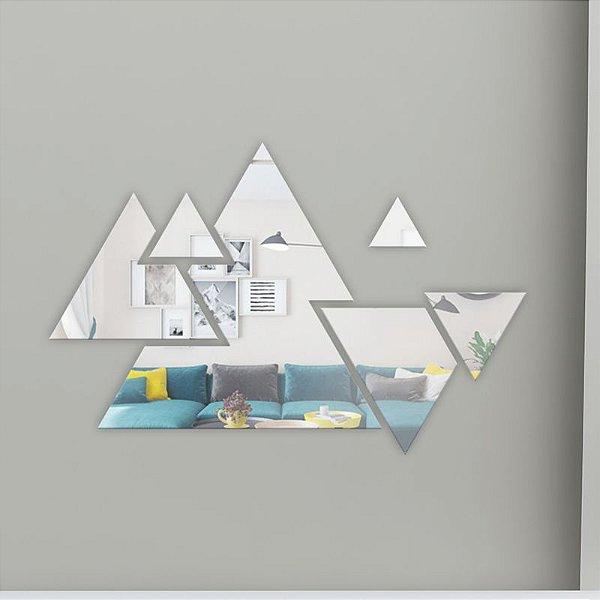 Espelho decorativo - triângulos