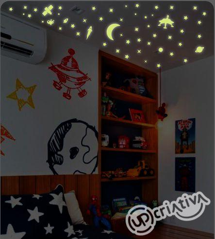 Adesivo de Teto Decorativo - Estrelas Que Brilham no Escuro (Fotoluminescentes)