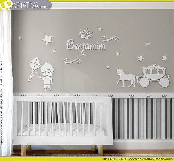 Painel decorativo para quarto de bebê - Tema Principe MDF