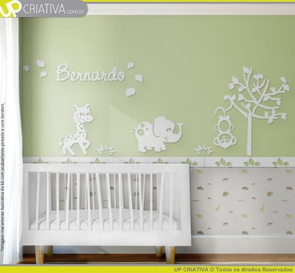 Painel decorativo para quarto de bebê - Tema Selva / Safari MDF