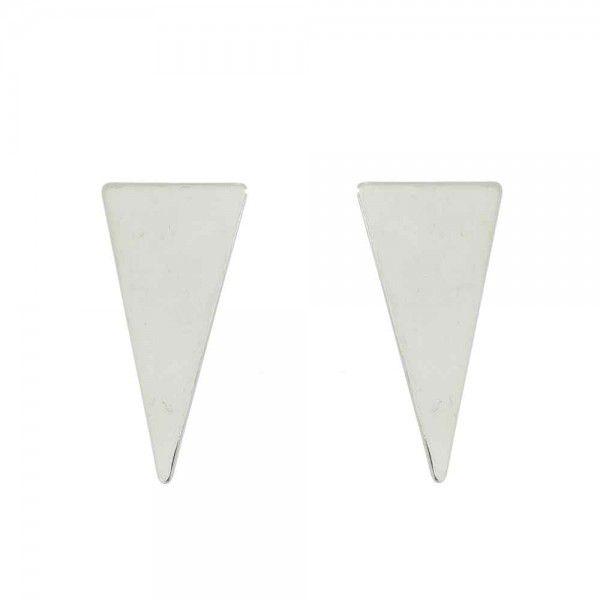Brinco triângulo liso Prata 925