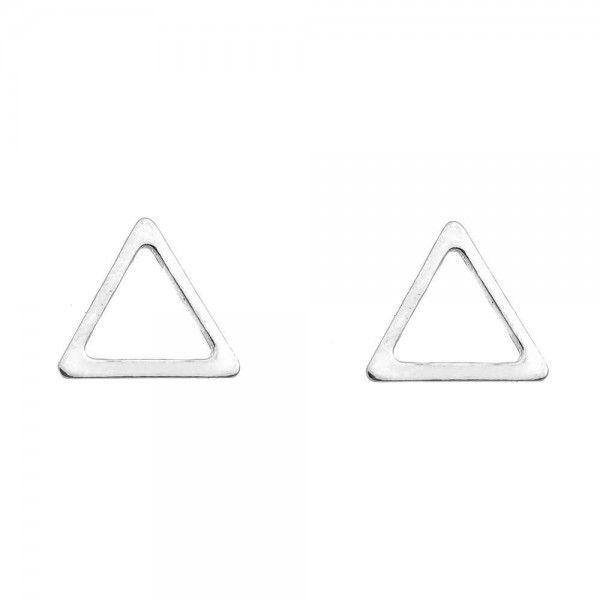 Brinco triângulo vazado Prata 925