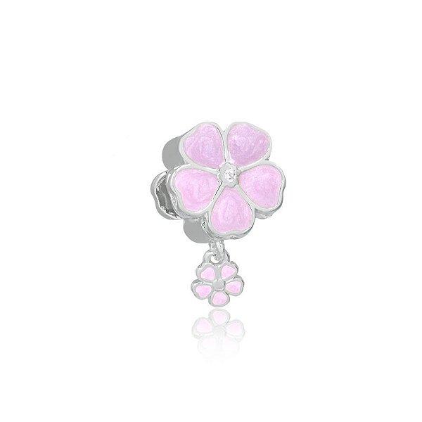 Pingente flor rosa