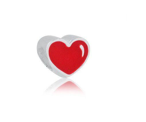 Pingente coração vermelho fechado