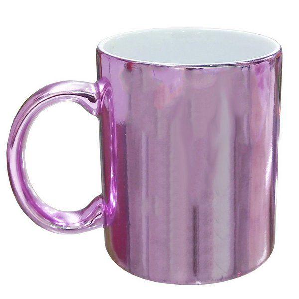 Caneca lilás cromada personalizada