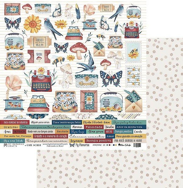 Kit de papéis (My Memories) - My Memories Crafts