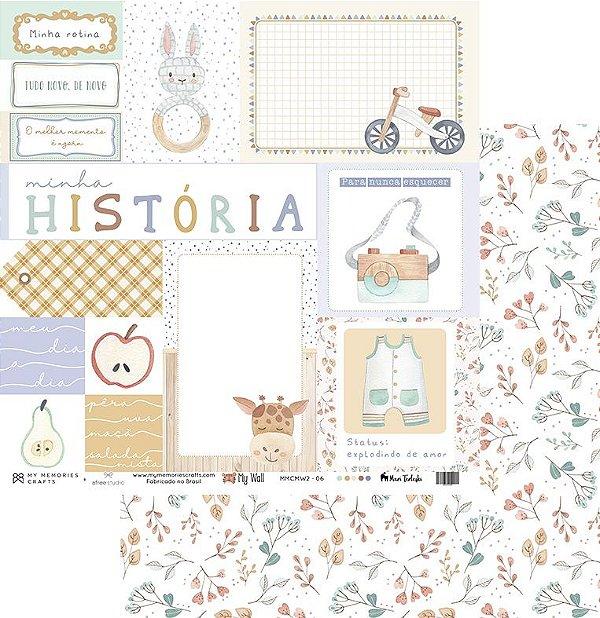 Kit de Papéis (My Wall) - My Memories Crafts