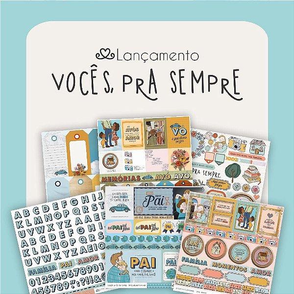 Kit de Papéis   Coleção Vocês, Pra Sempre