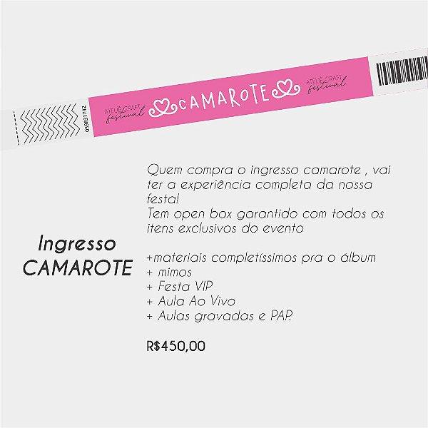 Ateliê Craft Festival    Edição Celebrar a Vida - Ingresso CAMAROTE