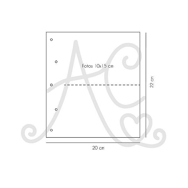 Miolo Plástico Para Álbum 15x21 Com Divisória - PaperChase