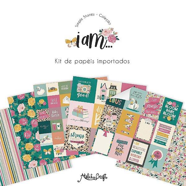 Kit de Papéis - Coleção I AM (Simple Stories)
