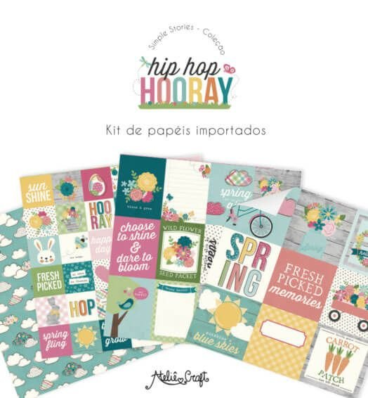Kit de Papéis Coleção Hip Hop Hooray (Simple Stories)