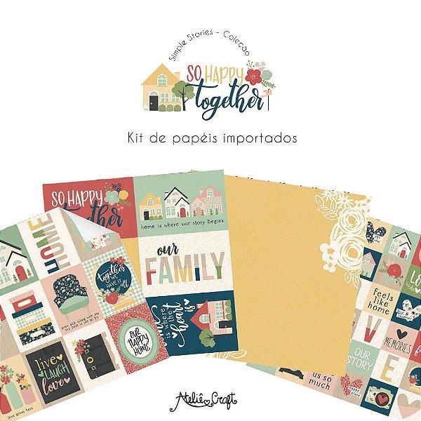 Kit de Papéis Coleção So Happy Together (Simple Stories)