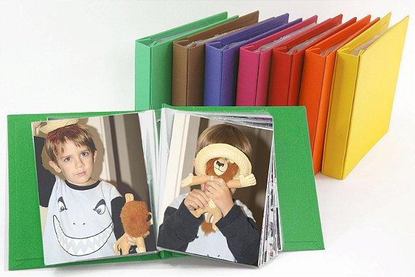 Álbum Cartonado com Miolo Plástico para 100 fotos 15x21