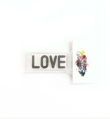 Carimbo - Love Com Pontinhos (ScrapGoodies)