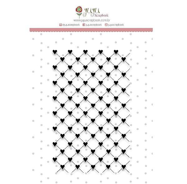 Carimbo - Box Corações ( Juju Scrapbook)