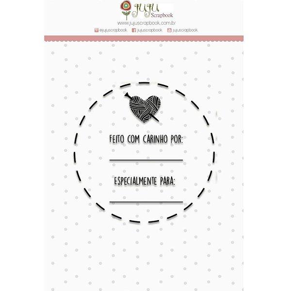 Carimbo - Feito Com Carinho (Love Scrap) Juju Scrapbook