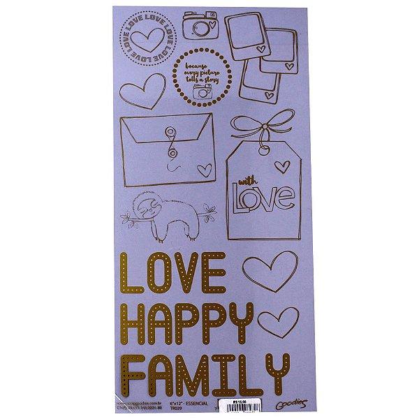 "Transparência  6""X 12""Love Happy Family (ScrapGoodies)"