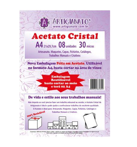 Acetato Cristal A4 30 Micras (Artigianato)