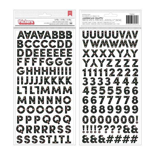 Cartela de Adesivos de Alfabeto - American Crafts