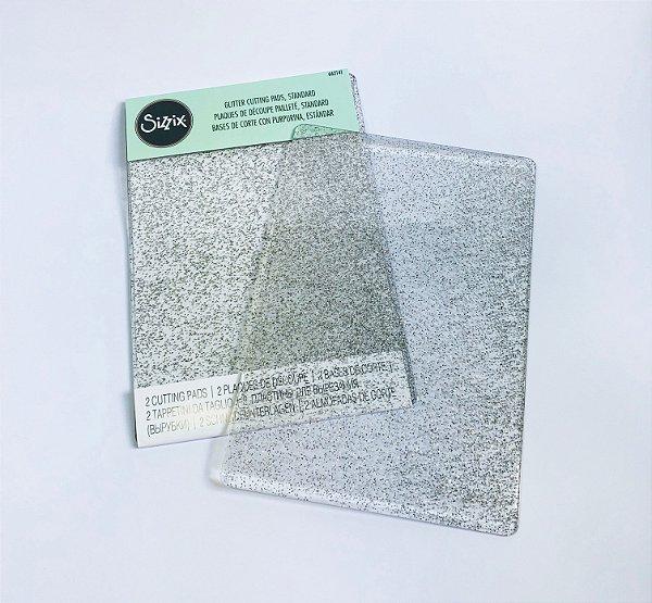 Cutting Pads com Glitter Prata - Sizzix