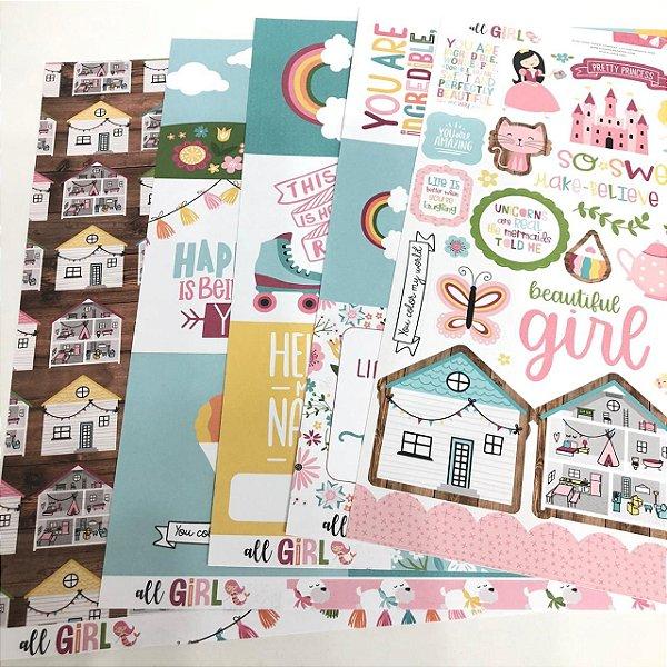 Kit de Papéis - Coleção All Girl ( Echo Park)