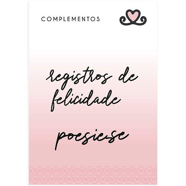 Complemento AC / Título Registros de Felicidade