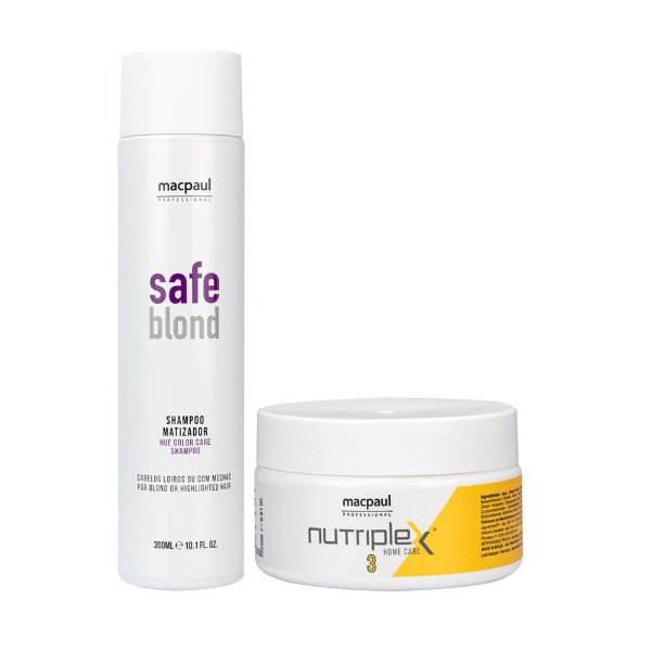Kit Shampoo Safe Blond 300ml + Máscara Nutriplex Nº3 250g