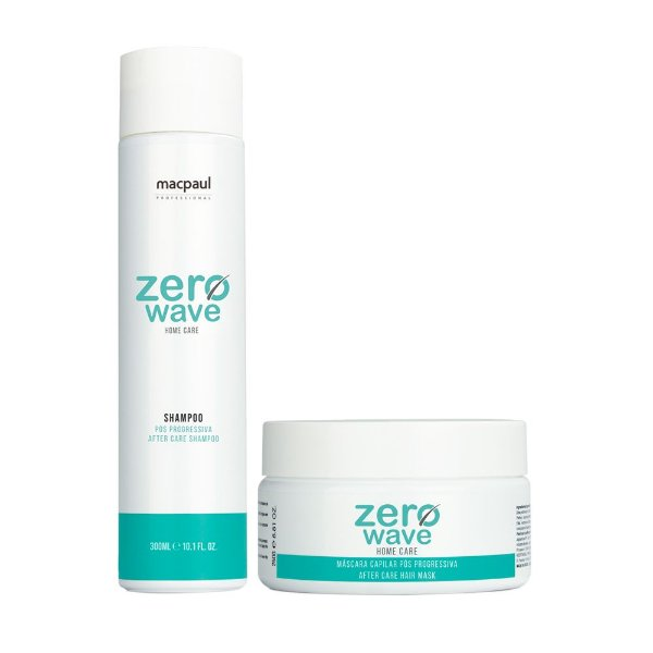 KIT SHAMPOO ZERO WAVE 300ML + MÁSCARA ZERO WAVE 250G