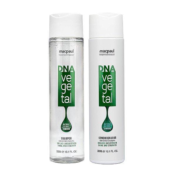 Kit Shampoo Dna Vegetal 300ml + Condicionador Dna Vegetal 300ml