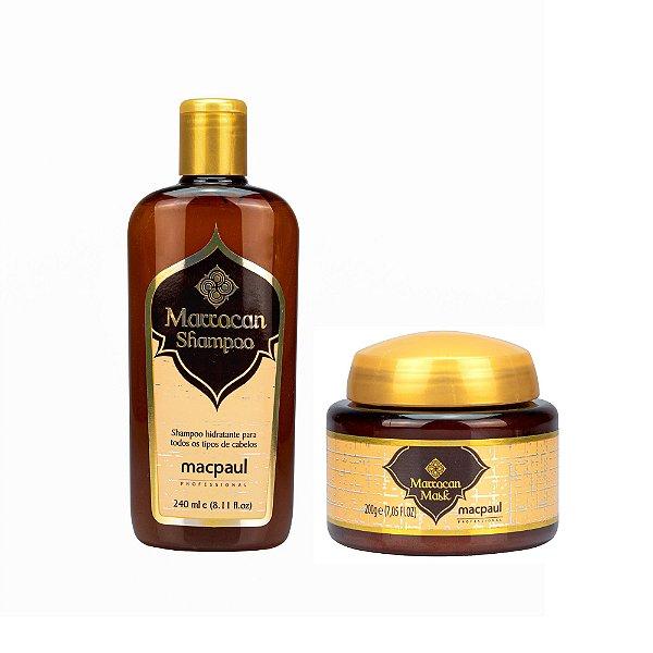 Kit Shampoo Marrocan 240ml + Marrocan Mask 200g