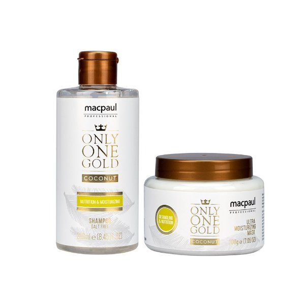 Kit Shampoo Only One Gold Coconut 250ml + Máscara Only One Gold Coconut 200g