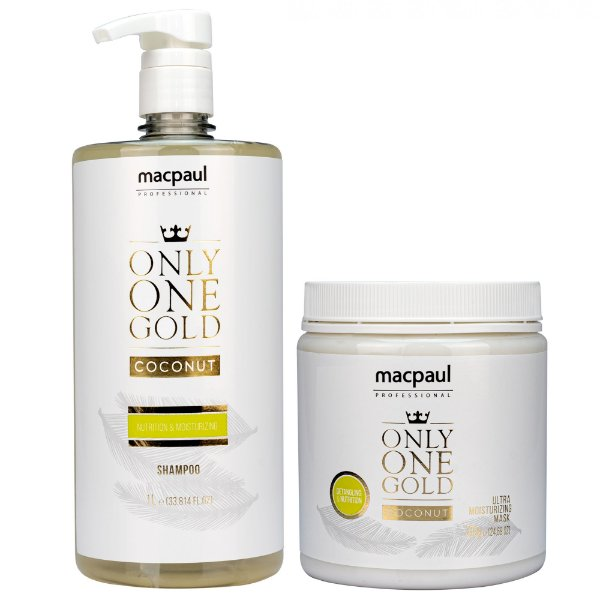 Kit Shampoo Only One Gold Coconut 1000ml + Máscara Only One Gold Coconut 700g