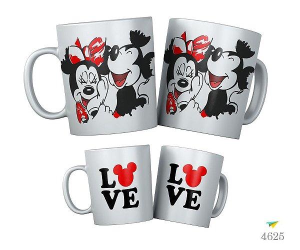 Kit Caneca Mickey e Minnie Love