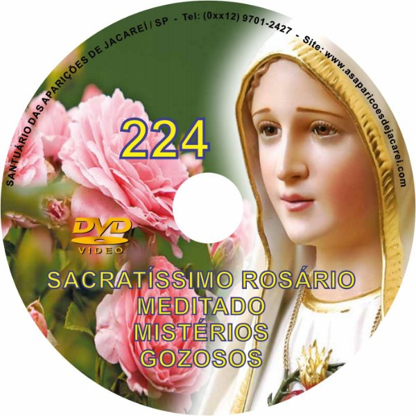 DVD ROSÁRIO 224 MISTÉRIOS GOZOSOS