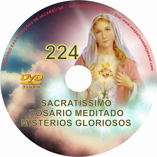 DVD ROSÁRIO MEDITADO 224 MISTÉRIOS GLORIOSOSO