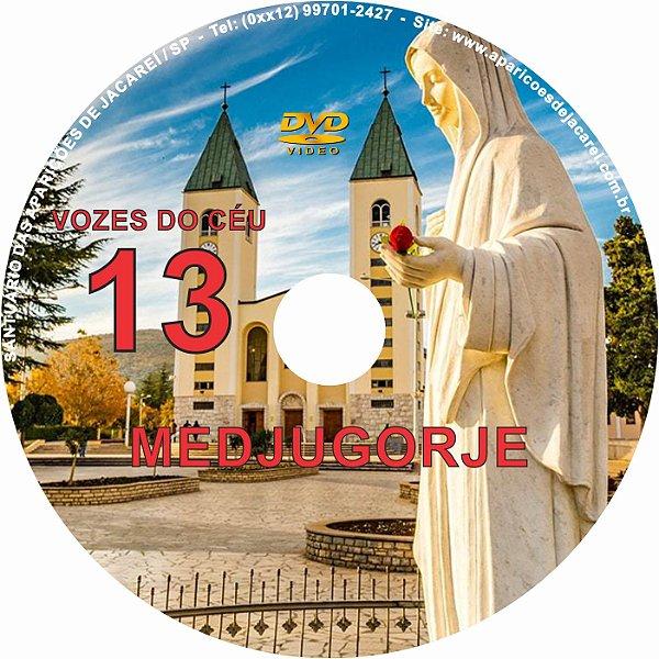 DVD VOZES DO CÉU 13- Filme 3 das Aparições de Nossa Senhora em Medjugorje, Bosnia Herzegovina a seis videntes